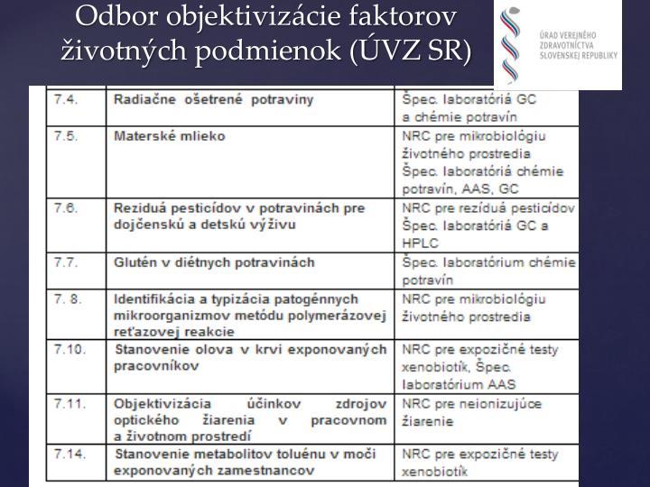 Odbor objektivizácie faktorov životných