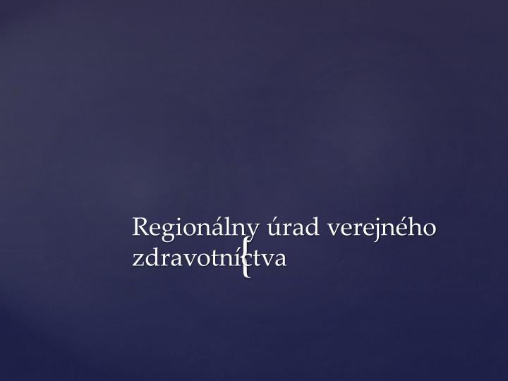 Regionálny úrad verejného zdravotníctva