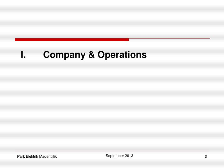 I company operations