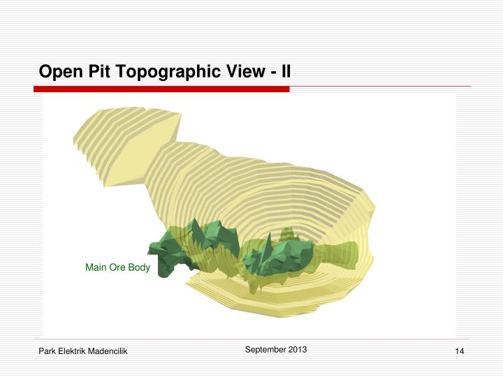 Open Pit Topographic View - II