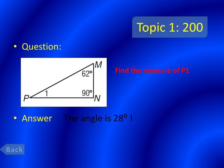 Topic 1 200