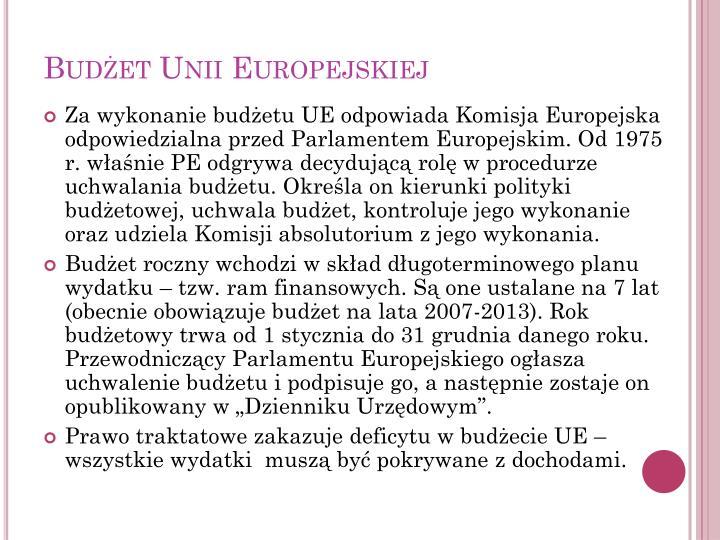 Budżet Unii Europejskiej