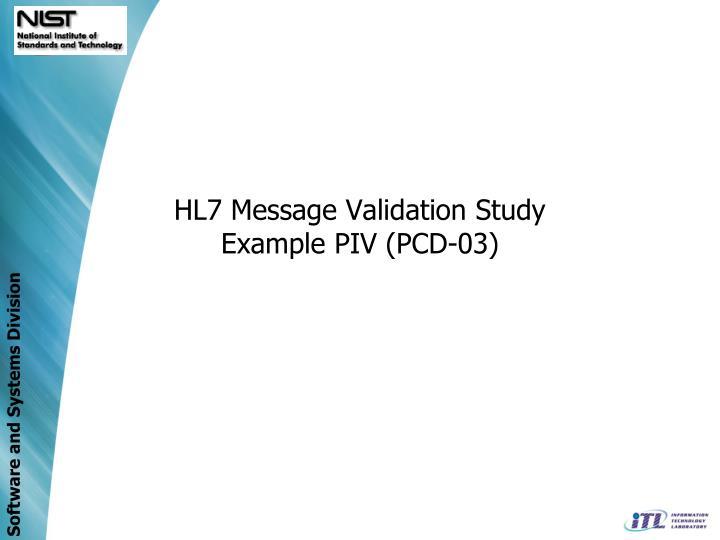 HL7 Message Validation Study