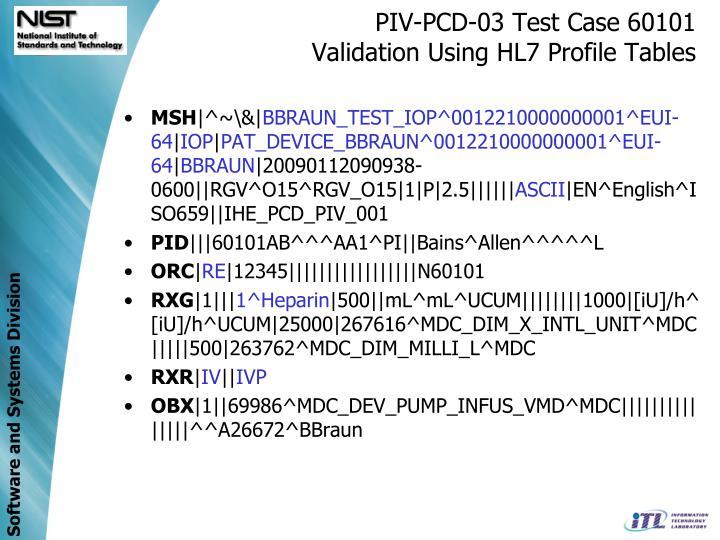 PIV-PCD-03 Test Case 60101