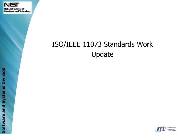 ISO/IEEE 11073 Standards Work