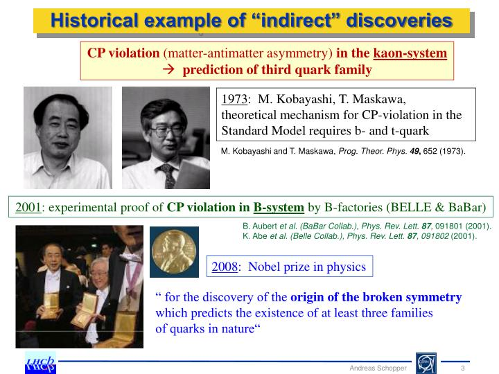 """Historical example of """"indirect"""" discoveries"""