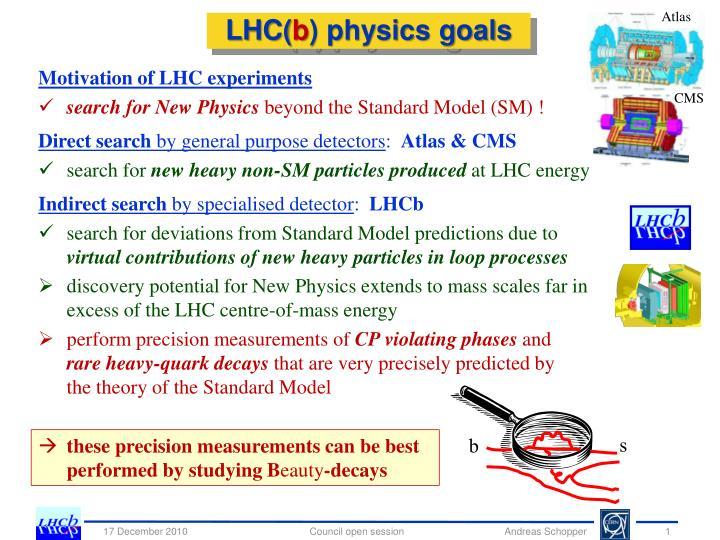 Lhc b physics goals