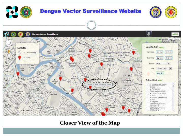 Dengue Vector Surveillance Website