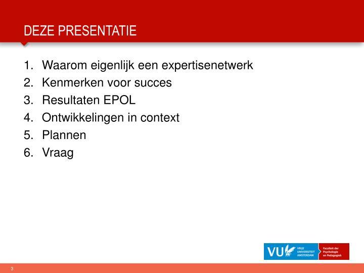 Deze presentatie