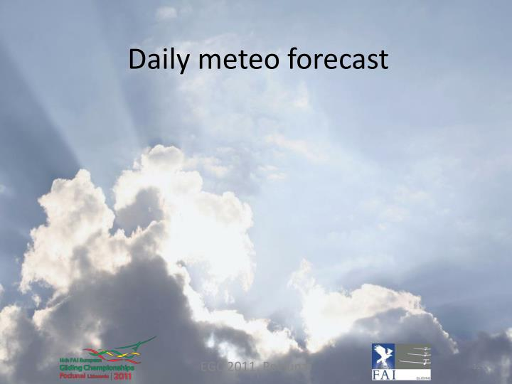Daily meteo forecast