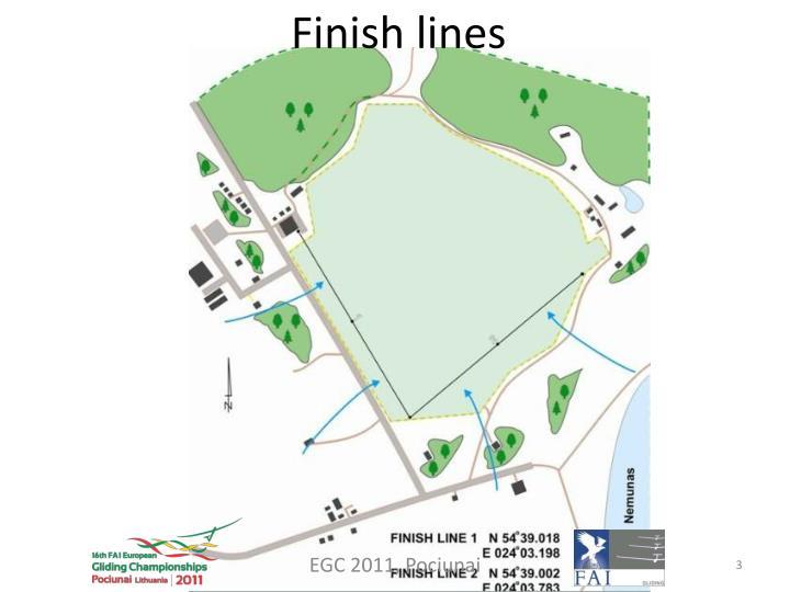 Finish lines