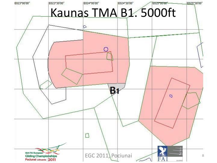 Kaunas TMA B1. 5000ft
