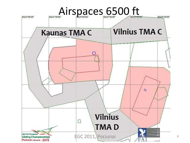 Airspaces 6500 ft