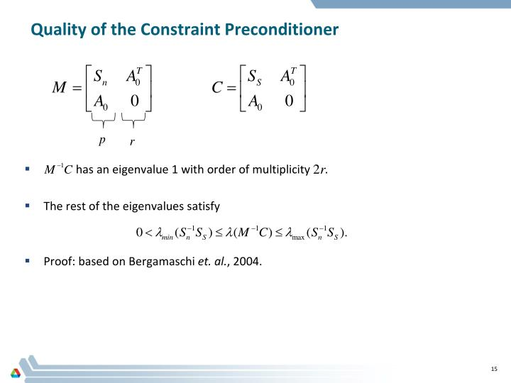Quality of the Constraint Preconditioner