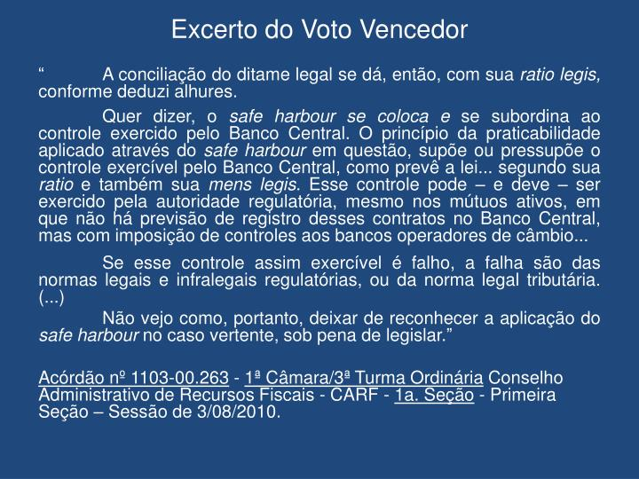 Excerto do Voto Vencedor