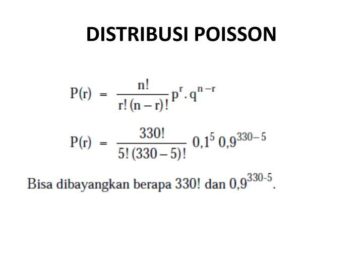 DISTRIBUSI POISSON