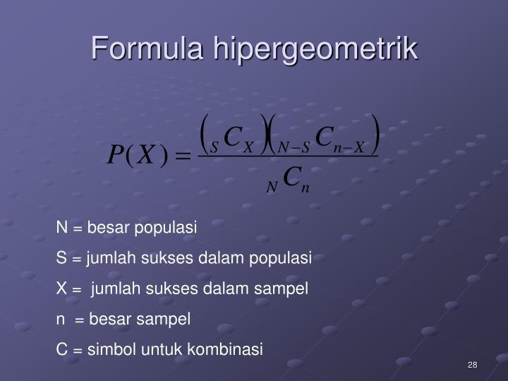 Formula hipergeometrik