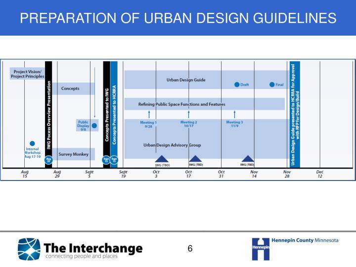 PREPARATION OF URBAN DESIGN GUIDELINES