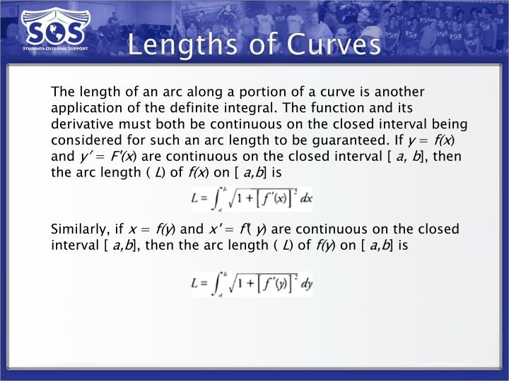 Lengths of Curves