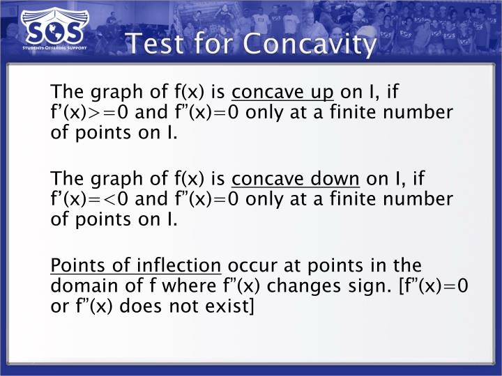 Test for Concavity