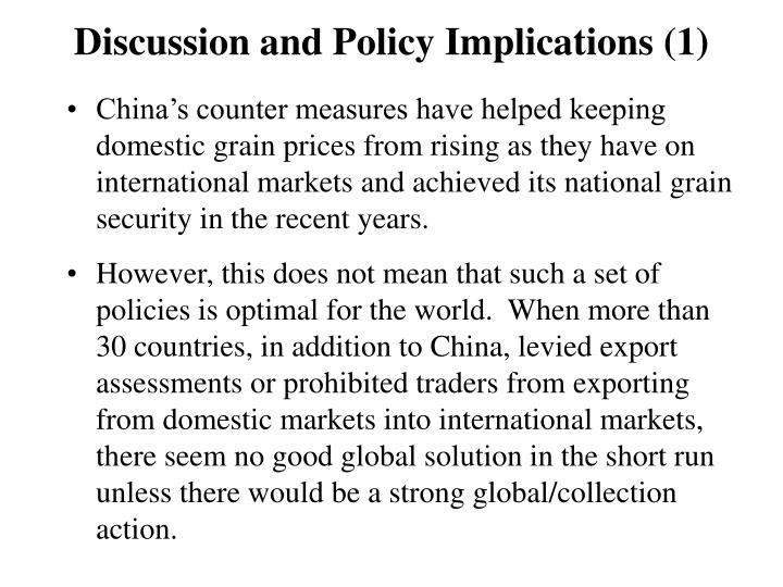 Discussion and Policy Implications (1)