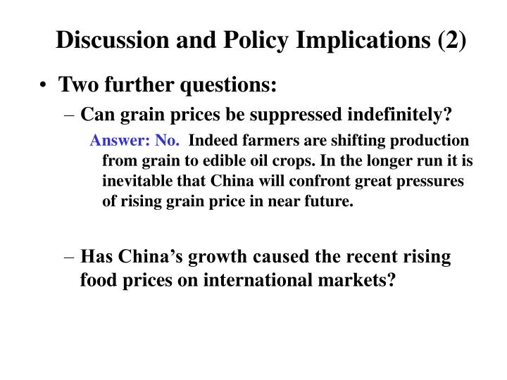 Discussion and Policy Implications (2)