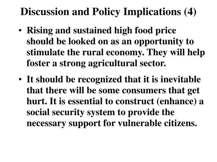 Discussion and Policy Implications (4)
