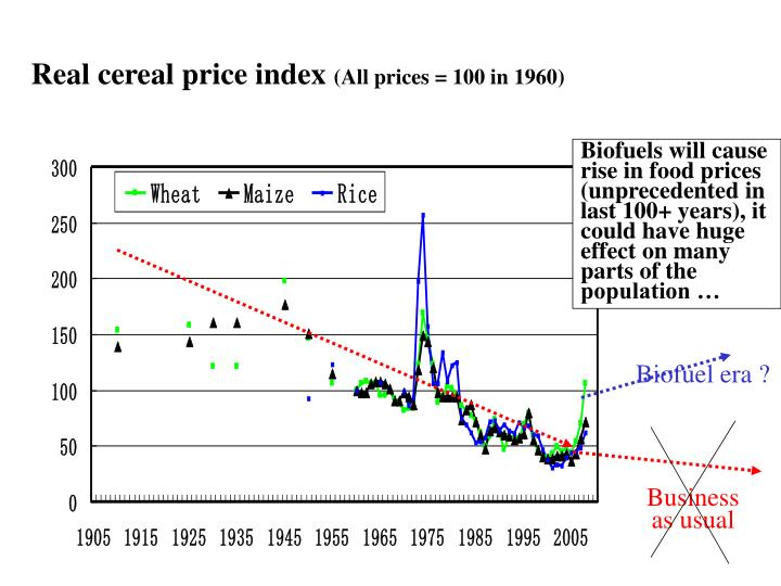 Real cereal price index