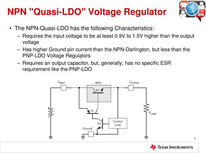 Npn quasi ldo voltage regulator