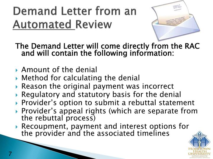 Demand Letter from an