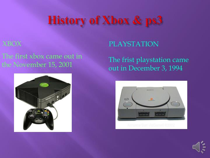 History of Xbox & ps3