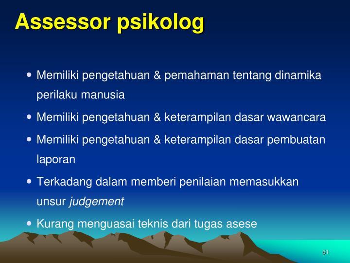 Assessor psikolog