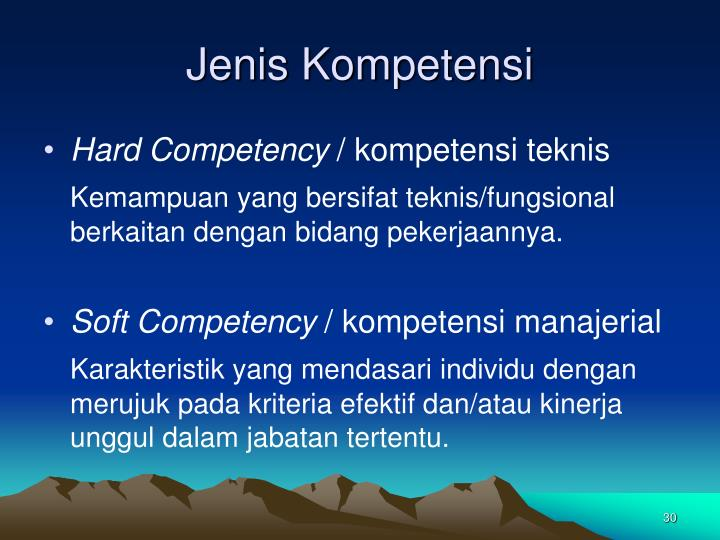 Jenis Kompetensi
