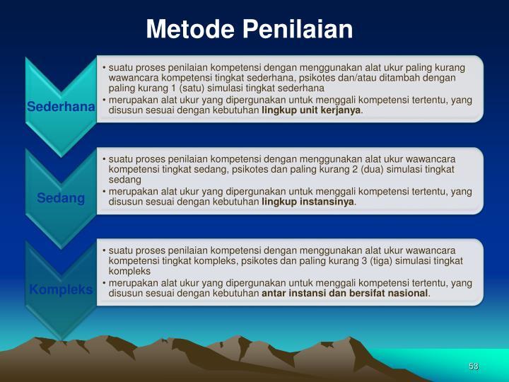 Metode Penilaian