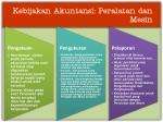 kebijakan akuntansi peralatan dan mesin