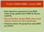 output simak bmn jurnal bmn