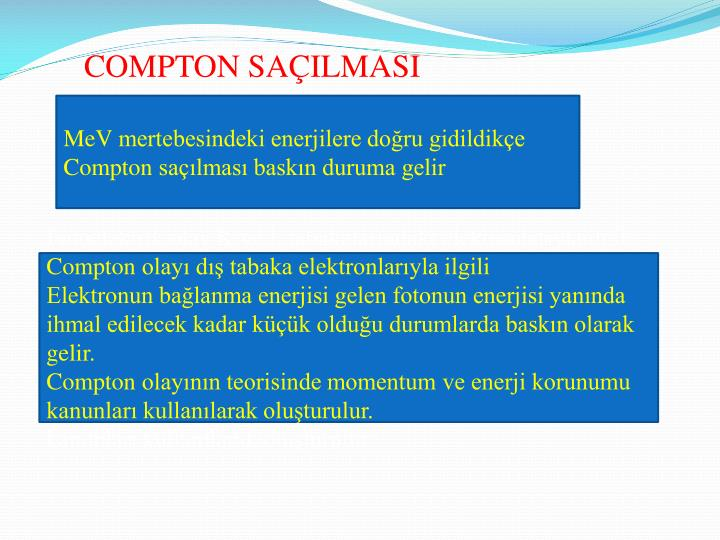 COMPTON SAÇILMASI