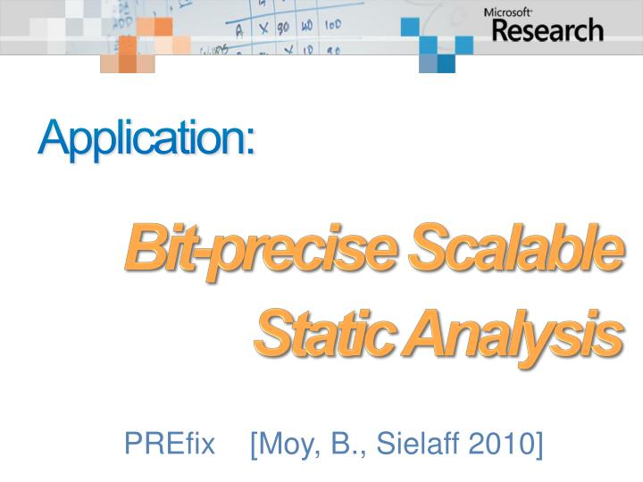 Bit-precise Scalable