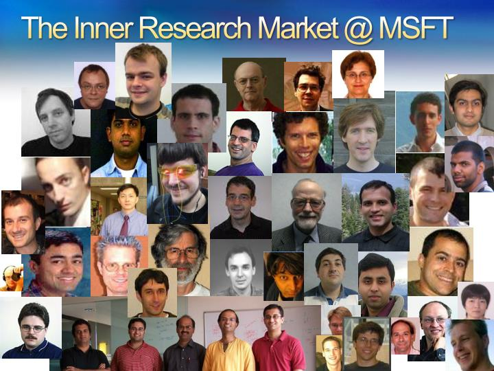 The Inner Research Market @ MSFT