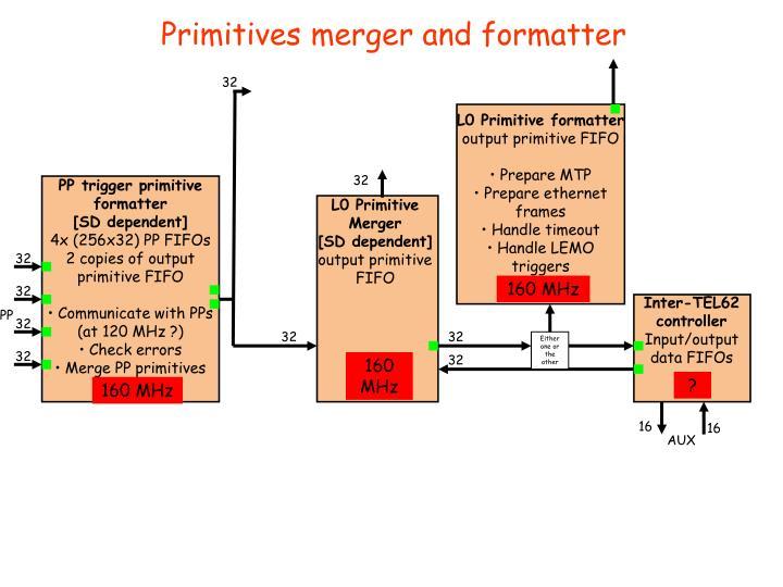Primitives merger and formatter
