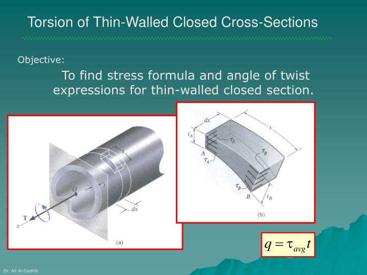 Torsion of Thin-Walled Closed Cross-Sections