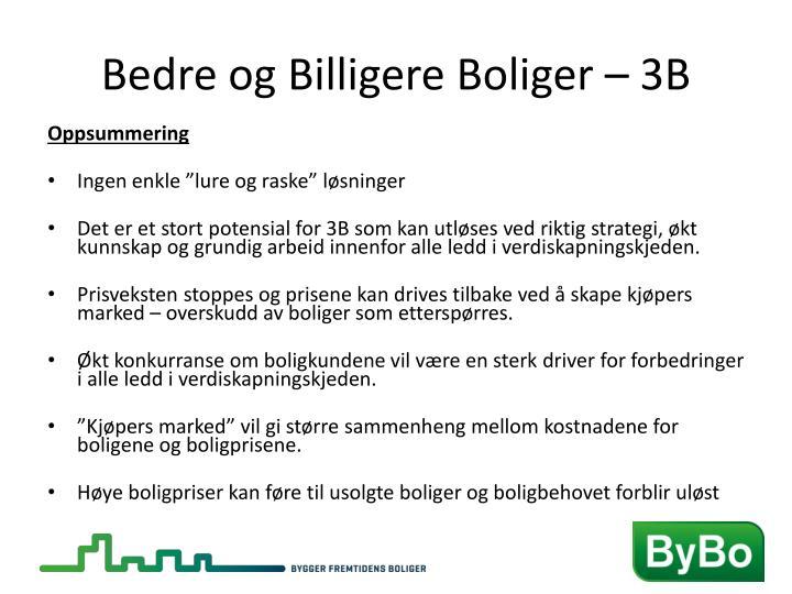 Bedre og Billigere Boliger – 3B