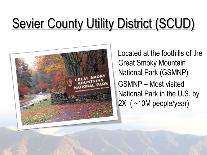 Sevier County Utility District (SCUD)