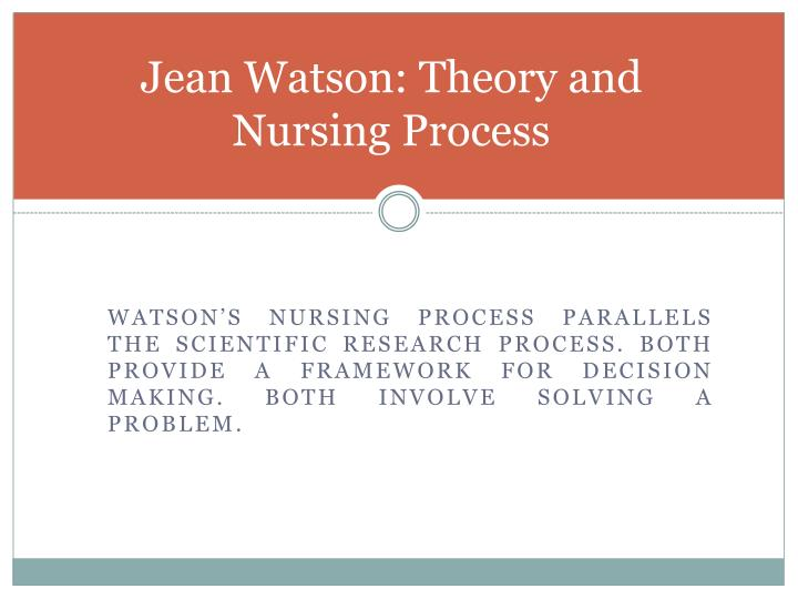jean watson theory of caring evaluation and analysis Essay human caring theory jean watson and 90,000+ more term papers written by  fit for practice: analysis and evaluation of watson's theory of human .
