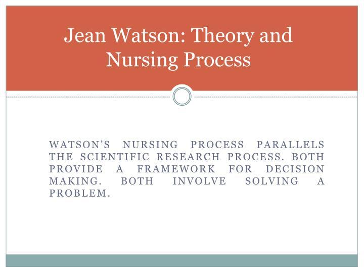 jean watson philosophy of nursing Jean watson, phd, rn, ahn-bc watson caring science institute art and science of caring in nursing dr watson's caring philosophy is used to guide.