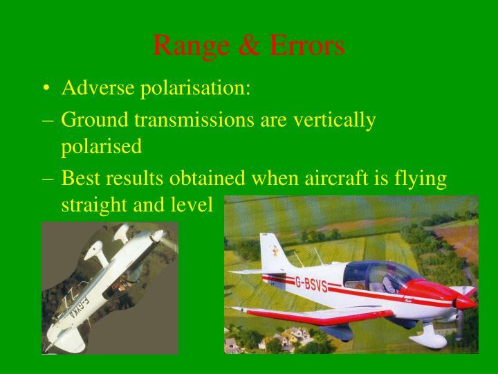 Range & Errors