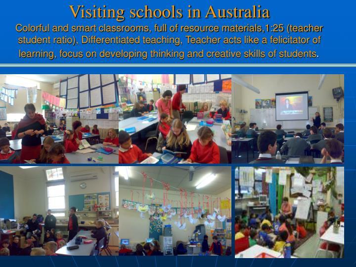 Visiting schools in Australia