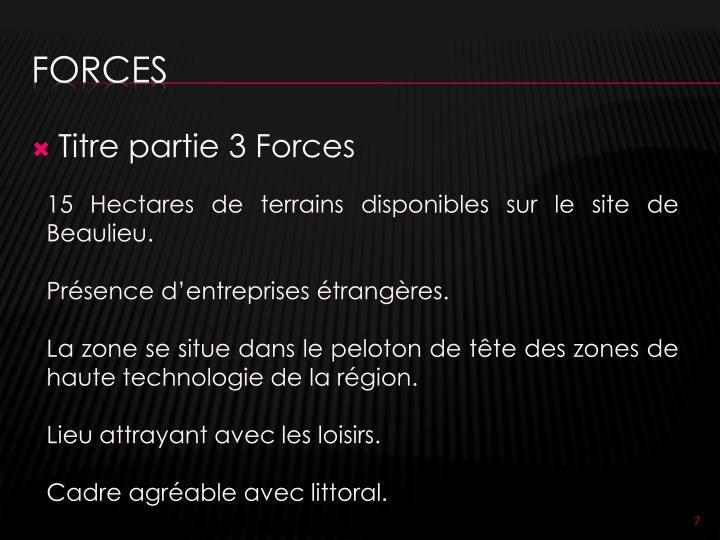 Titre partie 3 Forces