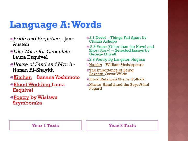 Language A: Words