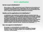 6 4 3 labellisation
